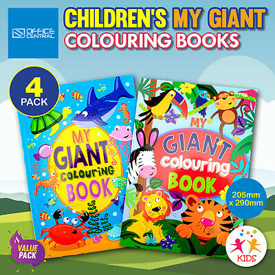 AU12.95 • Buy 4PK Kids Giant Colouring Books Fun Relaxing Creative Stimulating 20.5cm X 29cm