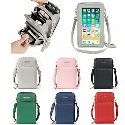 AU23.90 • Buy Women Phone Purse Bag Shoulder Strap Touch Screen Cross-Body Bag Pouch Wallet