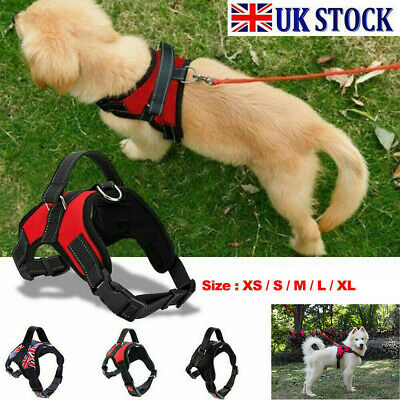 £5.49 • Buy XS-XL Dog Harness Collar Lead Adjustable Padded Resistant Non Pull Vest Puppy