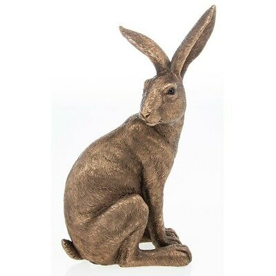 £19.90 • Buy  Reflections Bronzed Sitting Down Hare  Leonardo Collection LP46613 Ornament