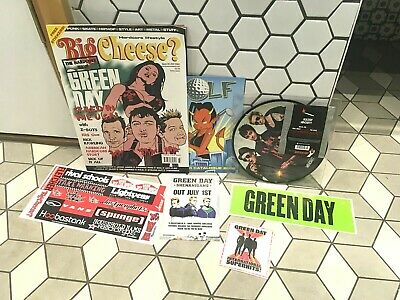 """Green Day - Holiday 7"""" Picture Disc Vinyl & PROMO Punk Rock  STICKERS UK MAG  • 17.98£"""