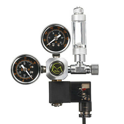 Aquarium Fish Tank CO2 Regulator Dual Gauge Bubble Counter Solenoid Valve UK • 39.77£