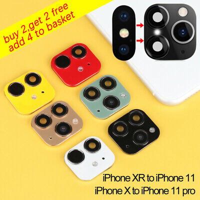 For IPhone X To IPhone 11 Pro Max Fake Camera Lens Sticker Seconds Change Cover~ • 3.29£