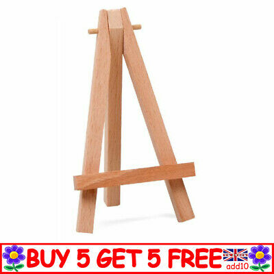 Wooden Mini Easel Pine Wood 15cm Display Canvas Art Craft Table Stand Wedding Tt • 2.34£