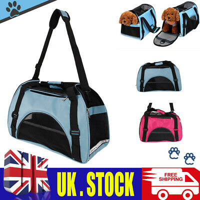 Pet Dog Puppy Carrier Handbag Cat Travel Carry Tote Cage Bag Crates Kennel Box • 9.99£
