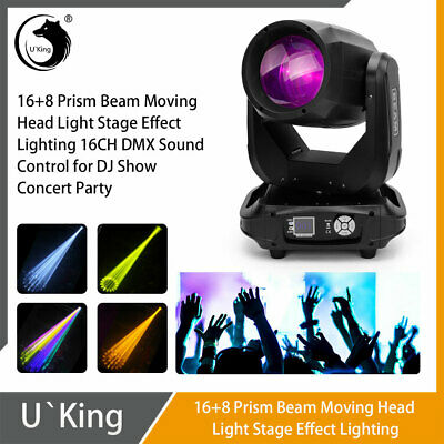 Stage Light 260W 16+8 Prism LED RGBW Beam Moving Head GOBO DMX DJ Party Disco • 324£