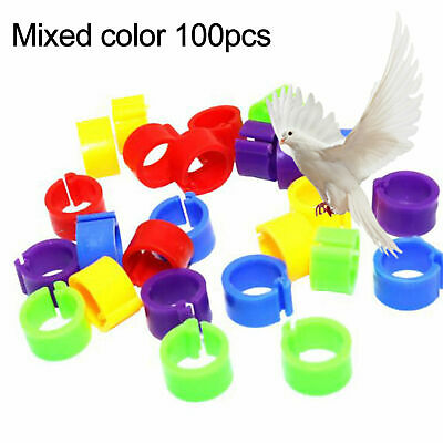 £3.18 • Buy 100pcs 8mm Bird Rings Leg Bands For  Parrot Finch Canary Poultry Rings