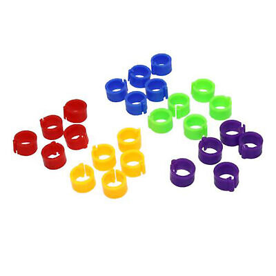 AB_ 100pcs Bird Rings Leg Bands For Pigeon Parrot Finch Canary Poultry Rings Wel • 3.18£