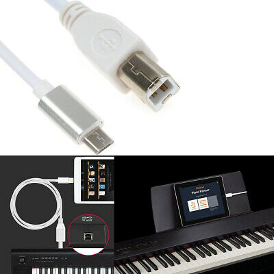 Type B Midi Cable To Micro USB Cable Connector Adapter OTG Electric Piano Audio • 3.83£
