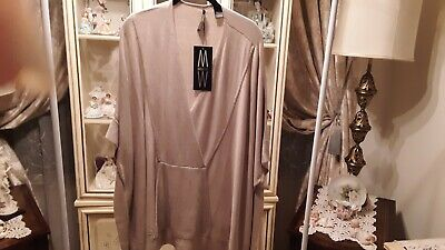 $14.99 • Buy Woman's Clothing Top -marla Wynne Top Beige  Size M/l - New Without Tags