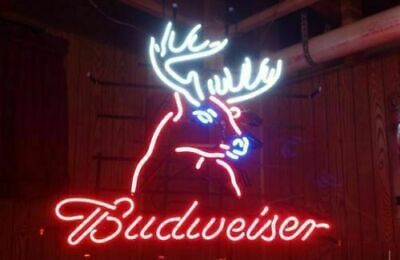 $ CDN63.12 • Buy New Budweiser Deer Buck Beer Bar Neon Sign 17 X14