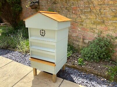Beginners Kit British National Bee Hive Gabled Roof , With Frames Foundation • 279.99£