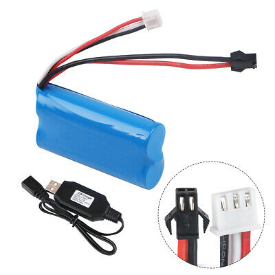 1500mAh 7.4V  Battery 15C SM Plug With USB Charger For RC Car Boat Spare Parts • 12.99£