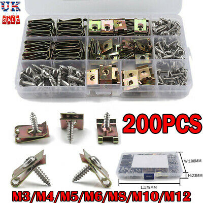 £12.74 • Buy Assorted Spire Clips U Nuts Captive Speed Fasteners Flange Self Tapping Screws