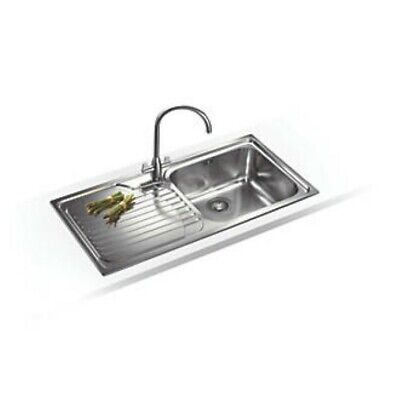 Franke Inset Kitchen Sink 18 / 10 Stainless Steel 1 Bowl 1000 X 500mm • 115£