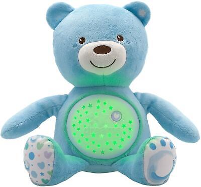 Chicco FIRST DREAMS BABY BEAR - BLUE Musical Night Light Plush Teddy Toy BN • 21.57£