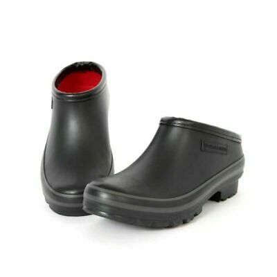 Ladies Evercreatures All Black Vegan Clog Wellies Slip On Shoes - UK 3-9 • 32.99£