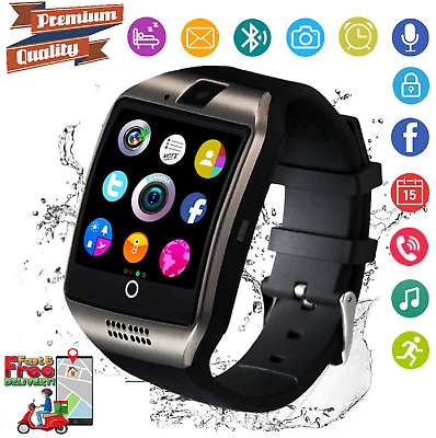AU34.99 • Buy Android Smartwatch Touch Screen Bluetooth SIM Card Slot & Camera For Women Men