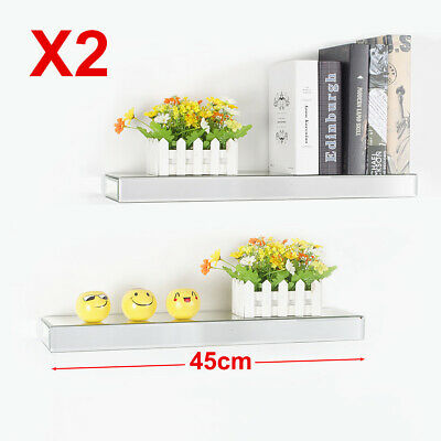 £32.99 • Buy 60CM Furniture Mirrored Bevelled Floating Shelf Wall Storage Display Home Decor