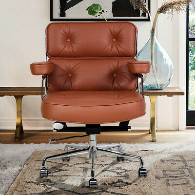AU489 • Buy Genuine Leather Executive Chair Office Chair Swivel Adjustable