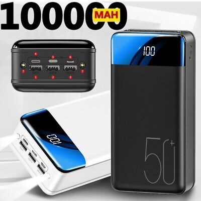 AU90.14 • Buy New PowerBank 100000mAh Backup Portable Charger External Battery Fast Charging