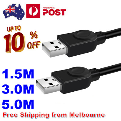 AU8.85 • Buy High Speed USB 2.0 Data Extension Cable Type A Male To Male M-M Connection Cord