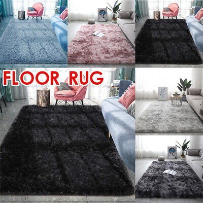 £22.31 • Buy Rectangle Shaggy Carpet Bedroom Living Room Floor Pads Mat Soft Fluffy Area Rugs