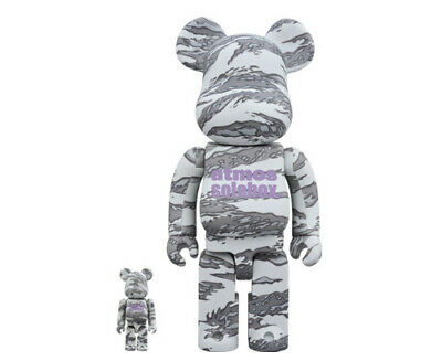 $225 • Buy Medicom Toy BEARBRICK Atmos X Solebox 100% & 400% Set ComplexLand *IN HAND*