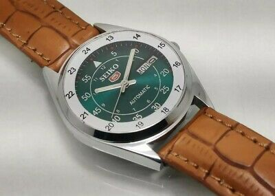 $ CDN29.49 • Buy Seiko 5 Automatic Day Date Green Color Dial Men's Wrist Watch Working Condition
