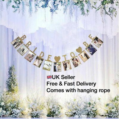 £5.49 • Buy Bride To Be Miss To Mrs Hen Do Party Photo Banner Garland Decor Wedding Bridal
