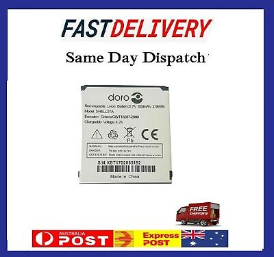 Replacement SHELL01A 800mAh Battery For Doro PhoneEasy 409 - White. • 12.42£