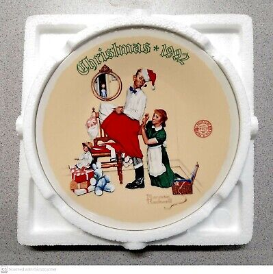 $ CDN16.24 • Buy Norman Rockwell's  The Christmas Surprise  1992 Christmas Plate  Mint  Perfect!