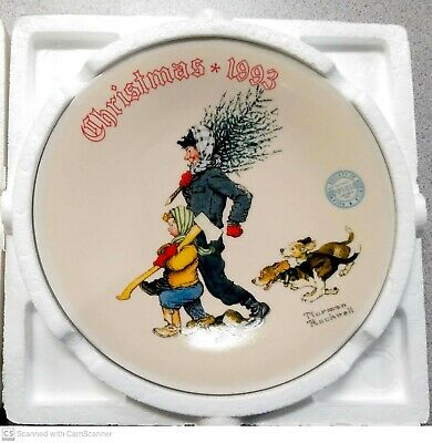 $ CDN16.24 • Buy Norman Rockwell's  The Tree Brigade  1993 Christmas Plate  Mint  Perfect! In OB