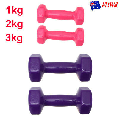 AU16.89 • Buy 1 Pair 0.5-3kg Weights Dumbbell Anti-slip Exercise Fitness Home Gym Hand Dumbell
