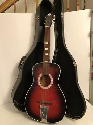 $ CDN199.40 • Buy Vntg Silvertone Parlor Model 319 12940000 Acoustic Guitar, Redburst USA W/ Case