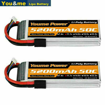 AU89.99 • Buy 2pcs 11.1V 3S 5200mAh LiPo Battery 50C Traxxas For RC CAR Truck Airplane Boat