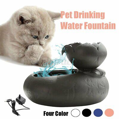 Pet Drinking Water Fountain Automatic Electric Dog Cat Bowl USB Filter Dispenser • 15.89£