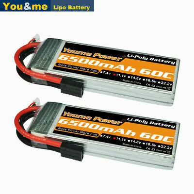 AU99.34 • Buy 2pcs 11.1V 3S 6500mAh LiPo Battery 60C Traxxas For RC Car Truck Quad Boat