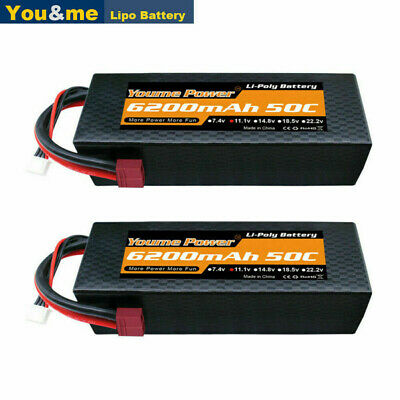 AU104.63 • Buy 2pcs 11.1V 3S 6200mAh LiPo Battery 50C Deans Hard Case For RC Car Truck Boat FPV