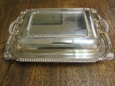 £29.99 • Buy Silver Plated Entree Vegetable Dish C 1920 Excellent Condition 11  X 8   Ex+