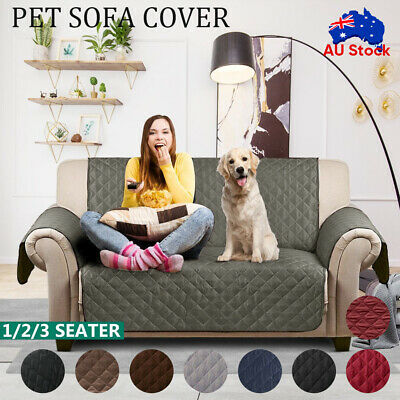 AU21.59 • Buy 1/2/3 Seater Sofa Cover Waterproof Couch Lounge Protector Slipcovers Pet Dog AU