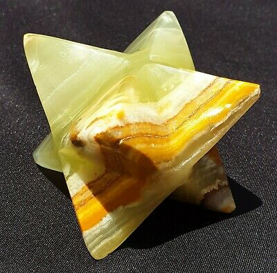 Gorgeous Banded Green Onyx Merkaba LARGE 253grams • 24.40£
