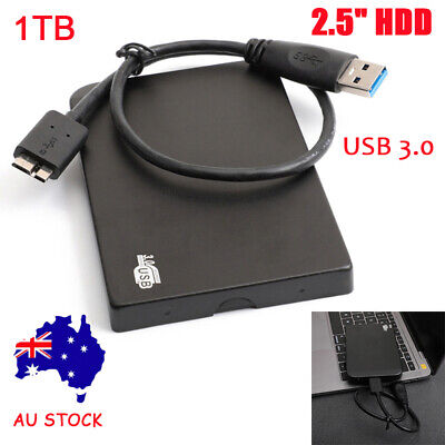 AU38.99 • Buy 1TB USB3.0 External Mobile  Hard Drive Disks HDD 2.5'' For Mac PC Laptop AU