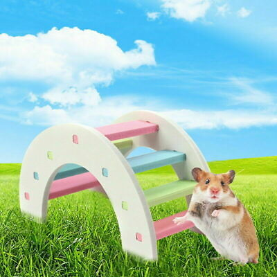 £2.98 • Buy New Hamster Arch Bridge Colorful Cute Wood Chew Toy For Small Animal Cage
