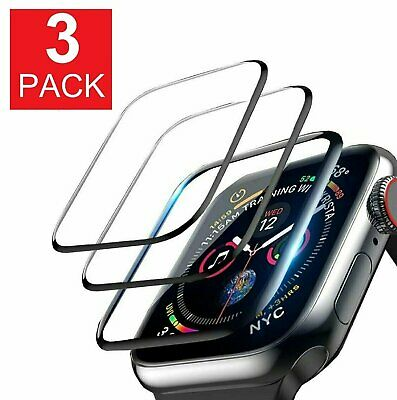 $ CDN5.96 • Buy 3-Pack For Apple Watch 5 4 3 2 Full Cover Screen Protector IWatch 38/42 40/44mm