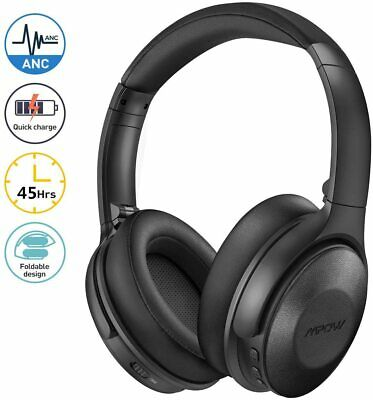 Mpow Wireless Headphones Bluetooth Headset Noise Cancelling Over Ear With Mic UK • 46.69£