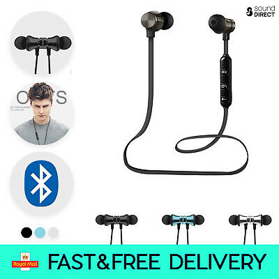 Wireless Bluetooth Earphones Headphones Earbuds For Sports Gym - IPhone Samsung • 4.97£