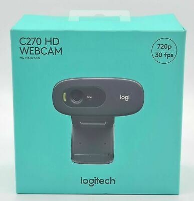 AU59 • Buy Logitech C270 HD Webcam With Built In Mic And Lighting.
