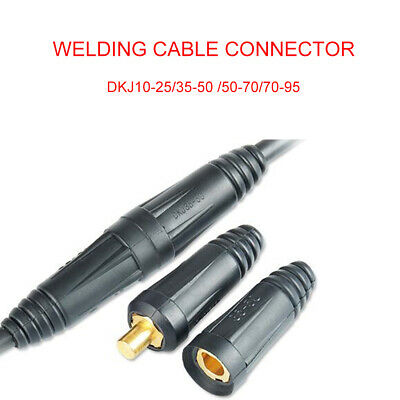 Male Cable Connector Plug Socket Copper Welding Machine Quick Fitting DKJ • 5.87£