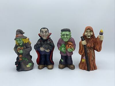 $ CDN50.34 • Buy Lot Of 4 Hand Painted Halloween Monster Candle Stick Holder Decor Figurine